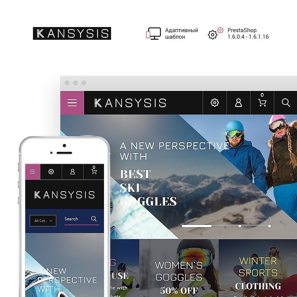 theme - Спорт и Путешествия - Kansysis - шаблон магазина спортивной одежды - 1