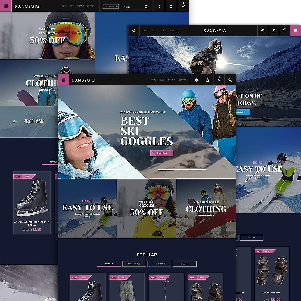 theme - Спорт и Путешествия - Kansysis - шаблон магазина спортивной одежды - 2