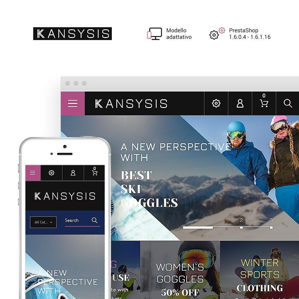 theme - Sport, Attività & Viaggi - Kansysis - per Un Sito di Negozio di Articoli Sportivi - 1