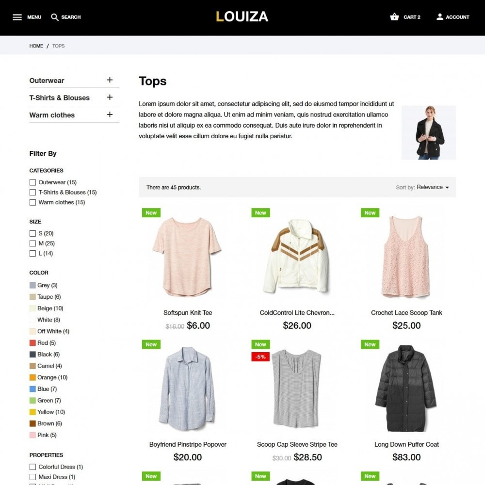 theme - Fashion & Shoes - Louiza Fashion Store - 5