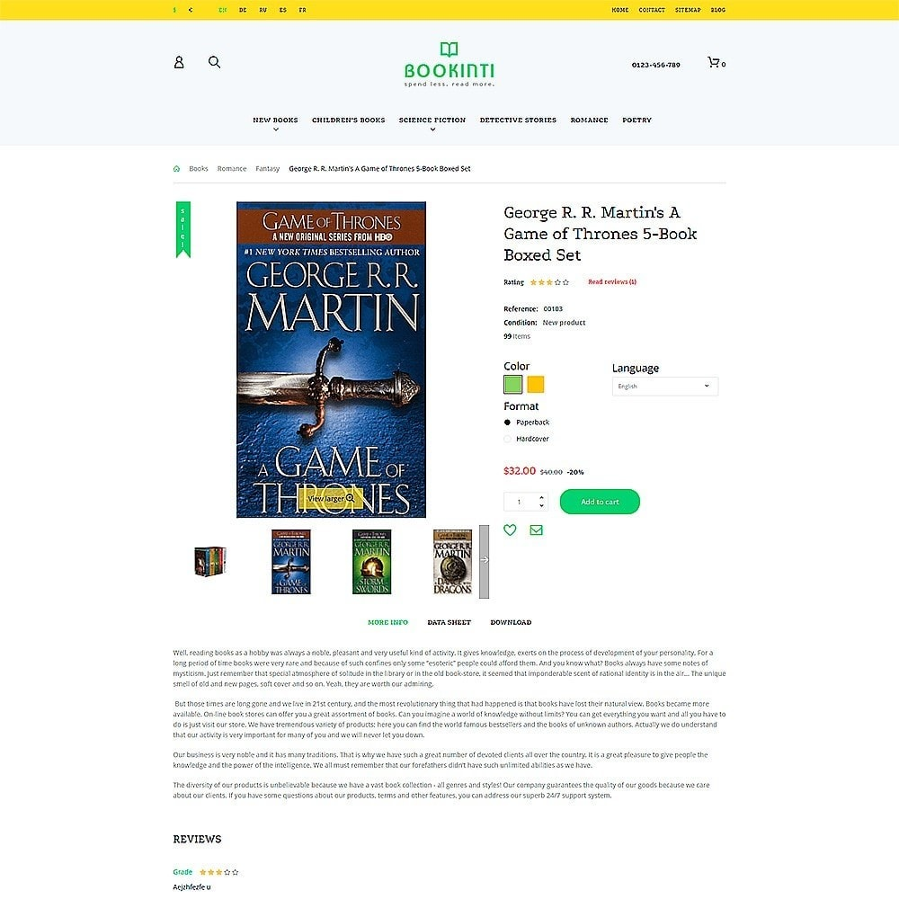 theme - Arte y Cultura - Bookinti - Book Store - 3