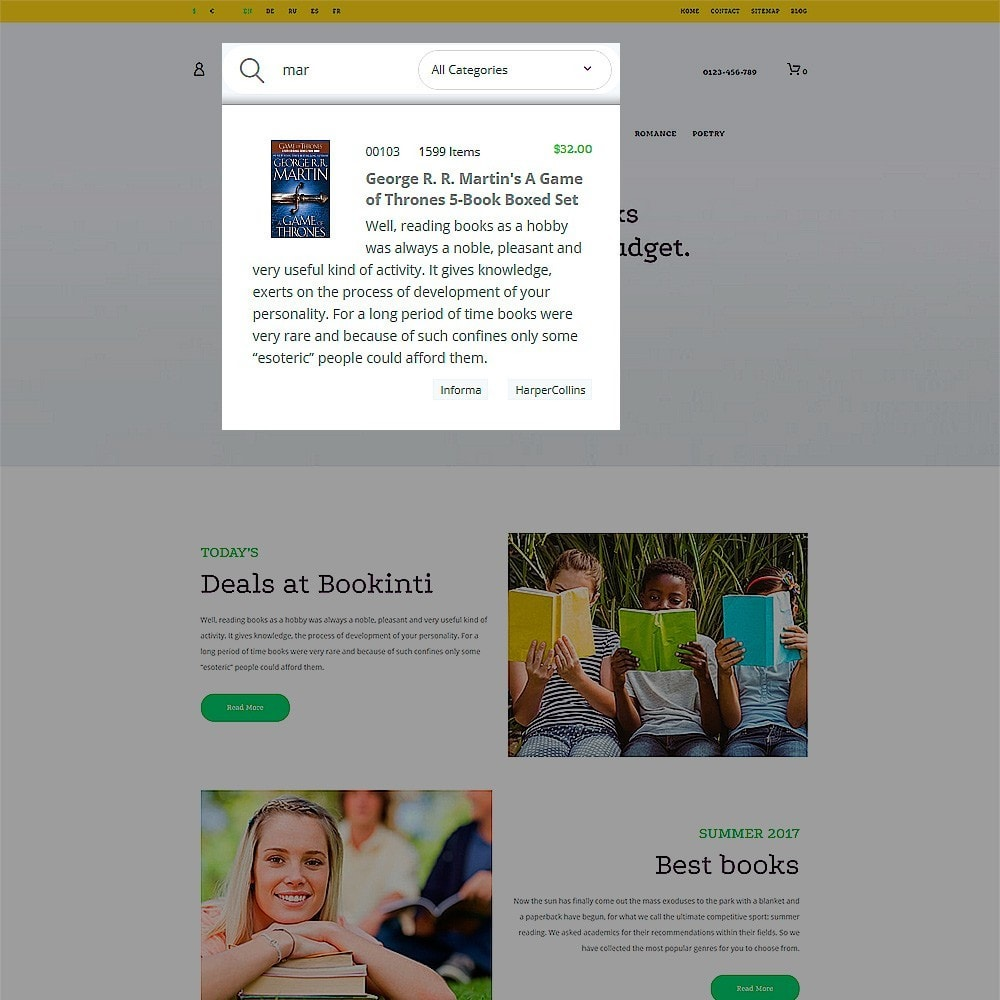 theme - Arte y Cultura - Bookinti - Book Store - 5