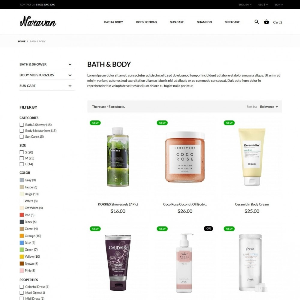 theme - Zdrowie & Uroda - Naravan Cosmetics - 5