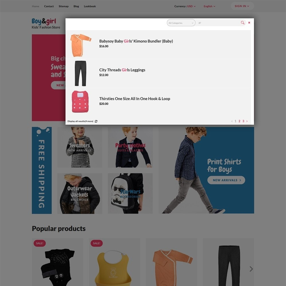 theme - Huis & Buitenleven - Boy&Girl - Kids Fashion Responsive - 6