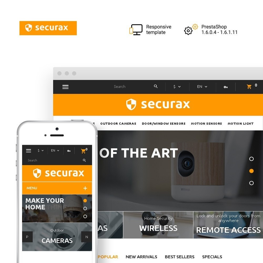 theme - Home & Garden - Securax - Security Systems Responsive - 1