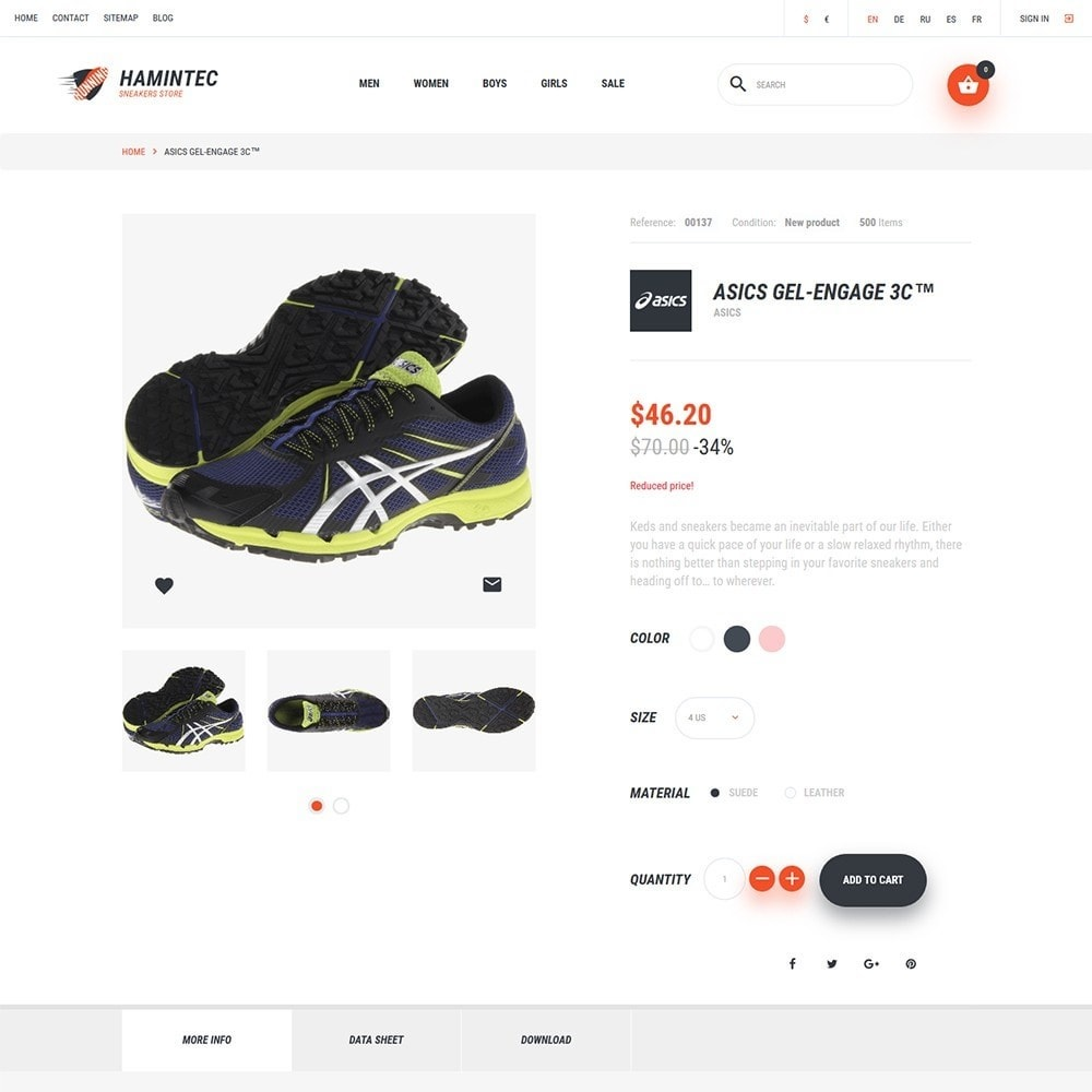 theme - Mode & Schoenen - Hamintec - Sneakers Store - 3