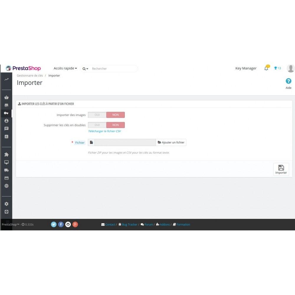 module - Sécurité & Accès - Key Manager (Gestion des produits à clés) - 11