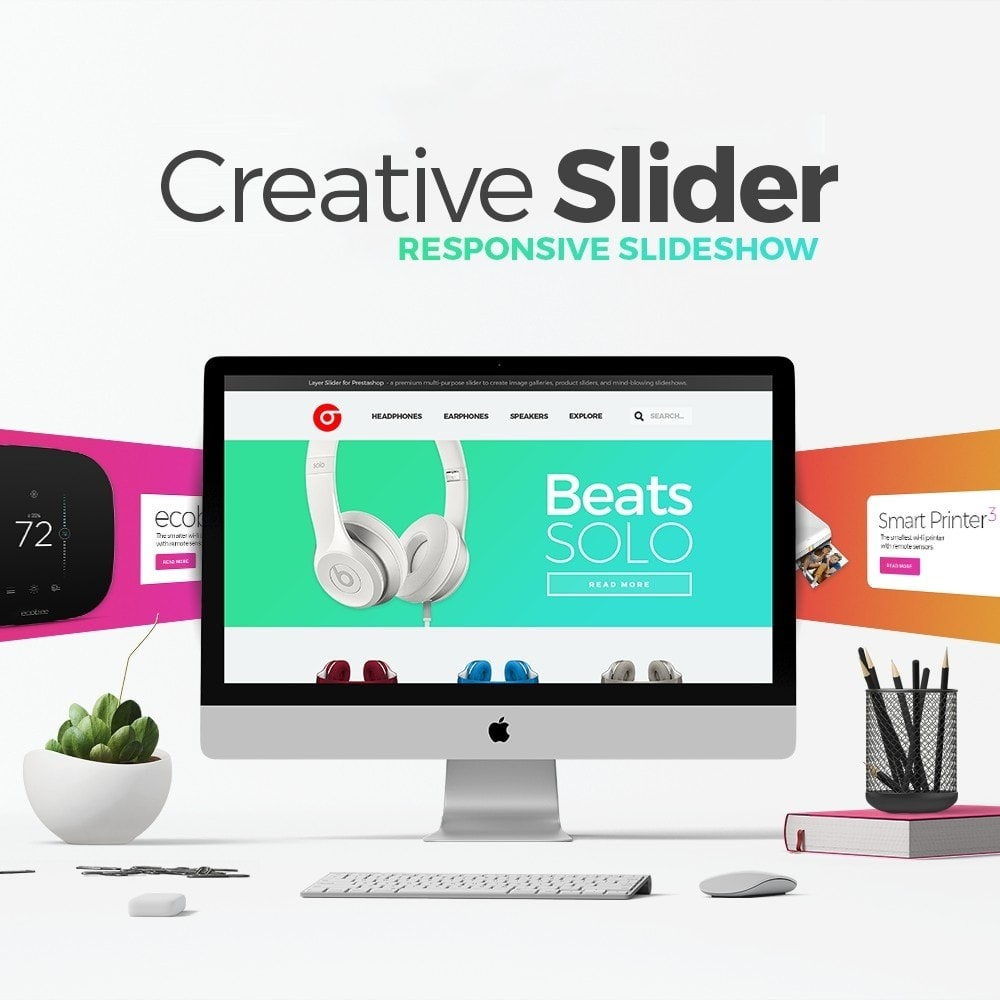 module - Sliders & Galeries - Creative Slider - Responsive Slideshow - 1