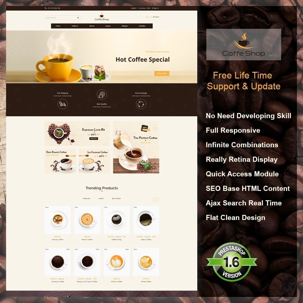 theme - Alimentation & Restauration - Coffee Shop - 1