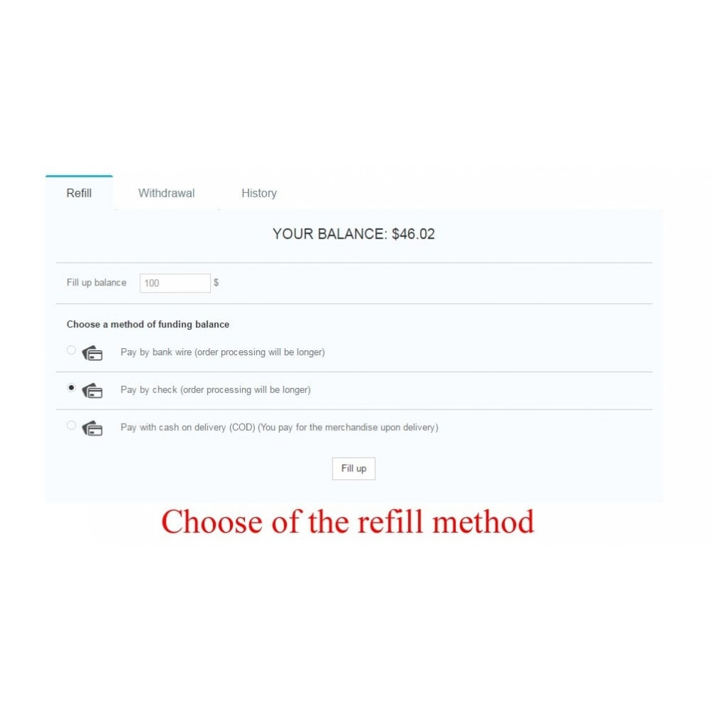 module - Payment by Card or Wallet - User internal balance UserBalance - 10