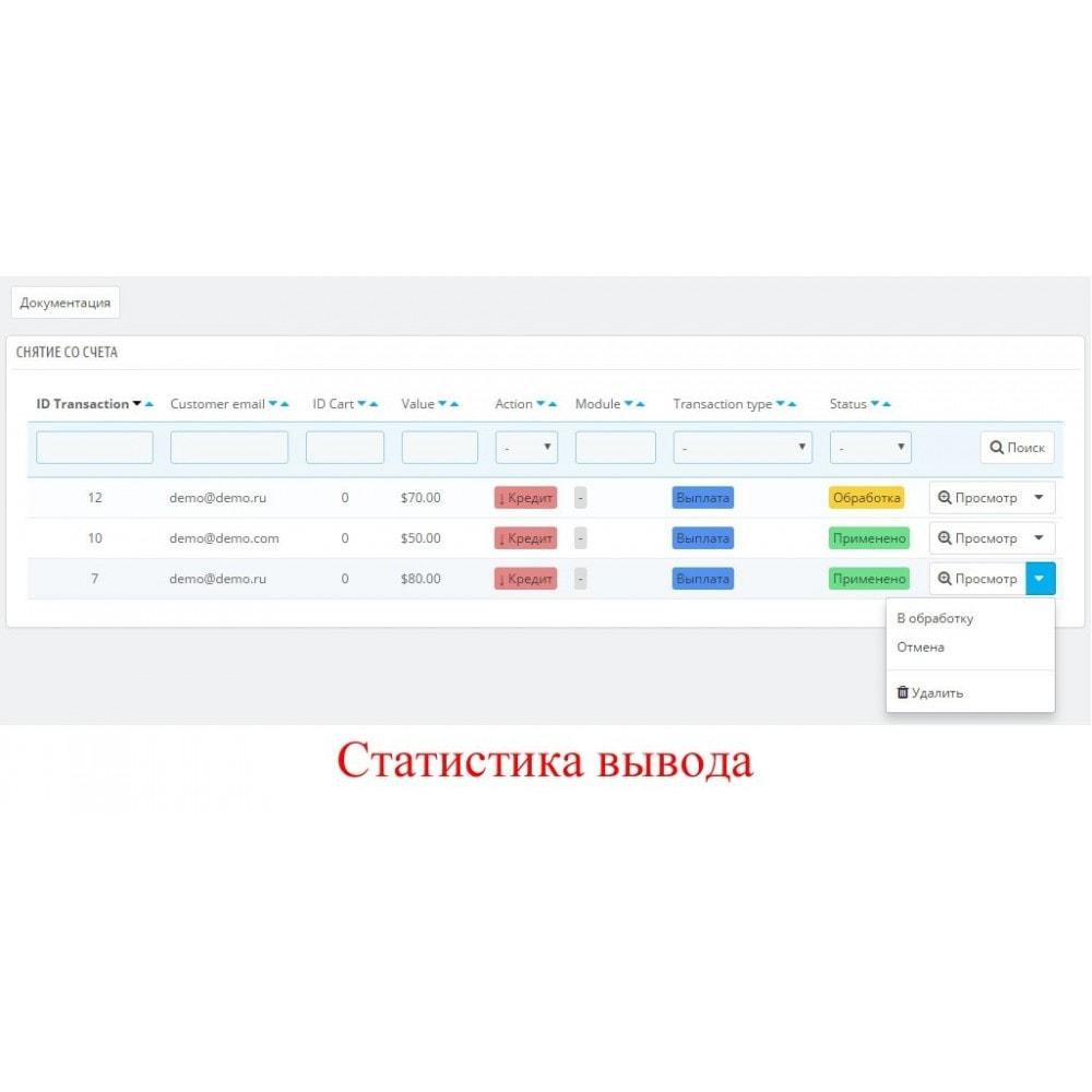 module - Оплата банковской картой или с помощью электронного кошелька - Внутренний баланс пользователя UserBalance - 3