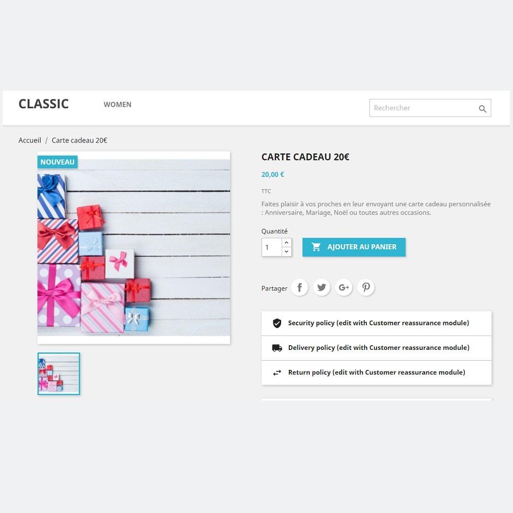 module - Liste de souhaits & Carte cadeau - Carte Cadeau Premium 1.6 - 1.7 - 4