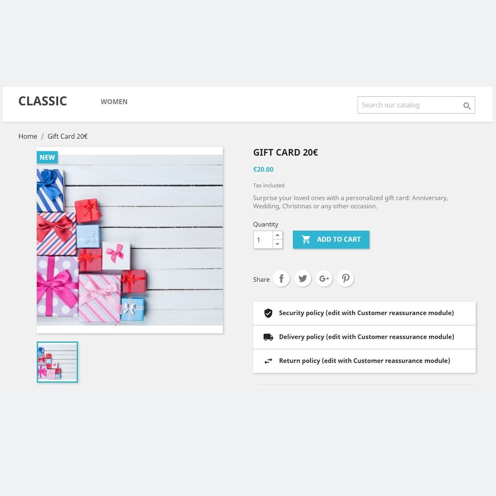 module - Whishlist & Gift Card - Carta regalo premium 1.6 - 1.7 - 4
