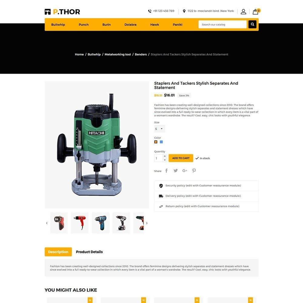 theme - Automotive & Cars - Thor Tools Store - 5