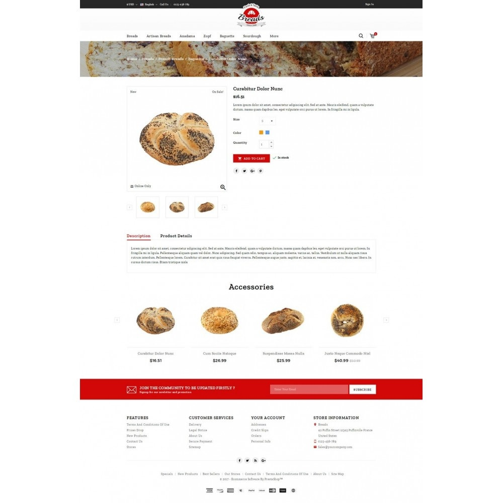 theme - Alimentation & Restauration - Fresh Bakery store - 4
