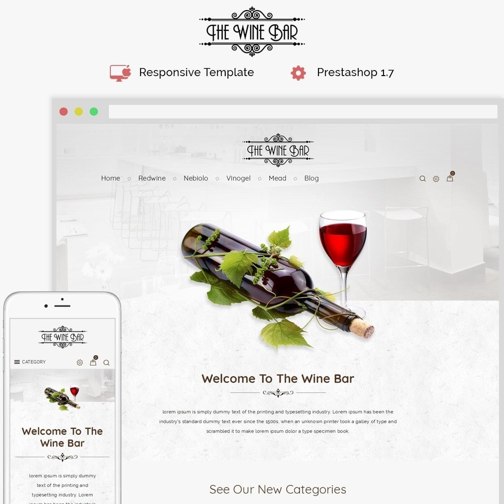 theme - Drink & Wine - Winebar WIne Store - 1