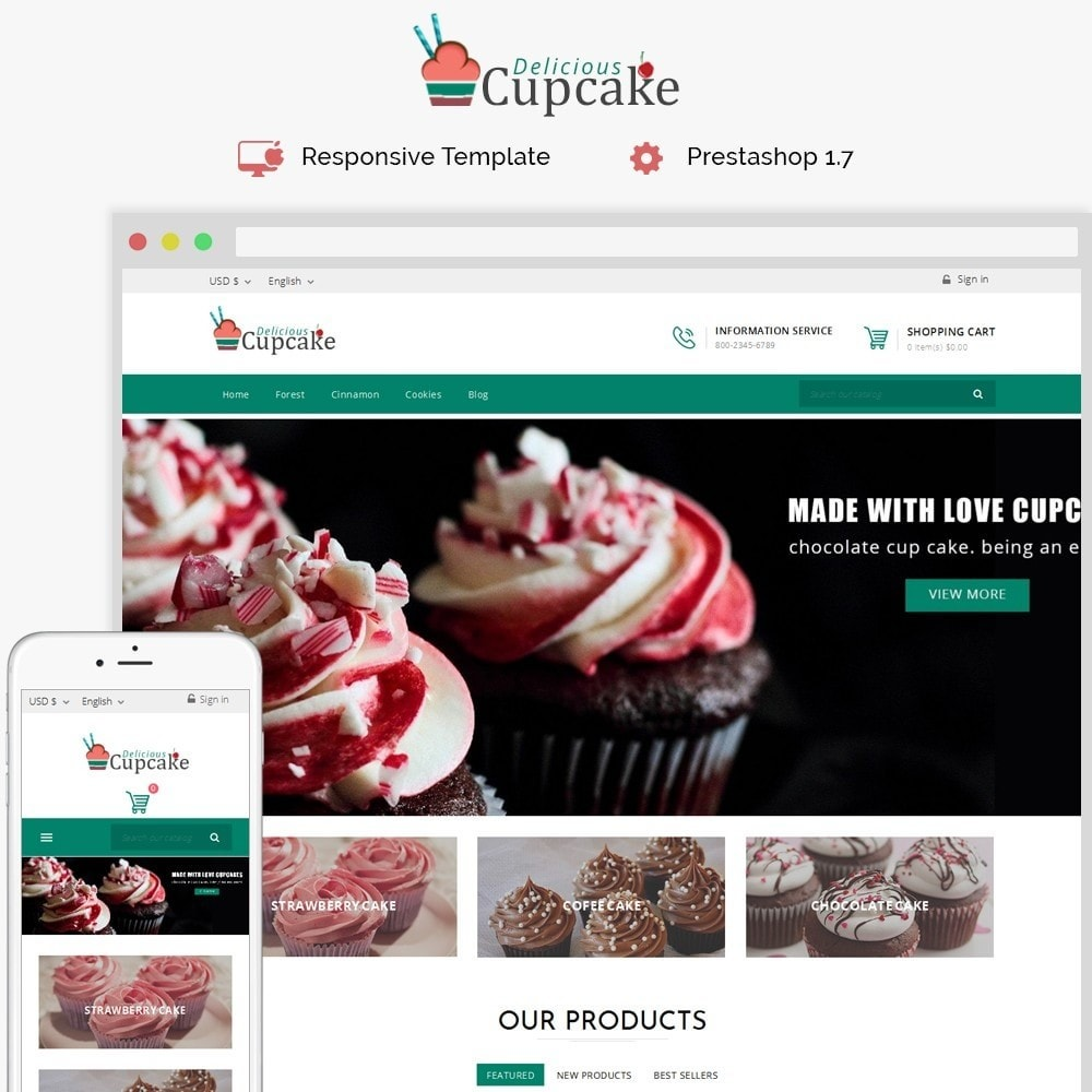 theme - Food & Restaurant - Cupcake Cake Shop - 1