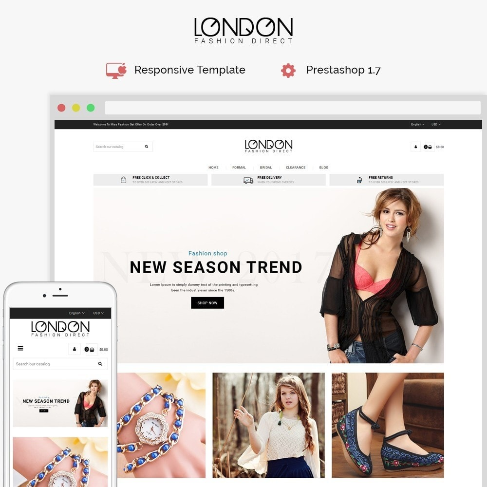 theme - Мода и обувь - London Fashion Store - 1
