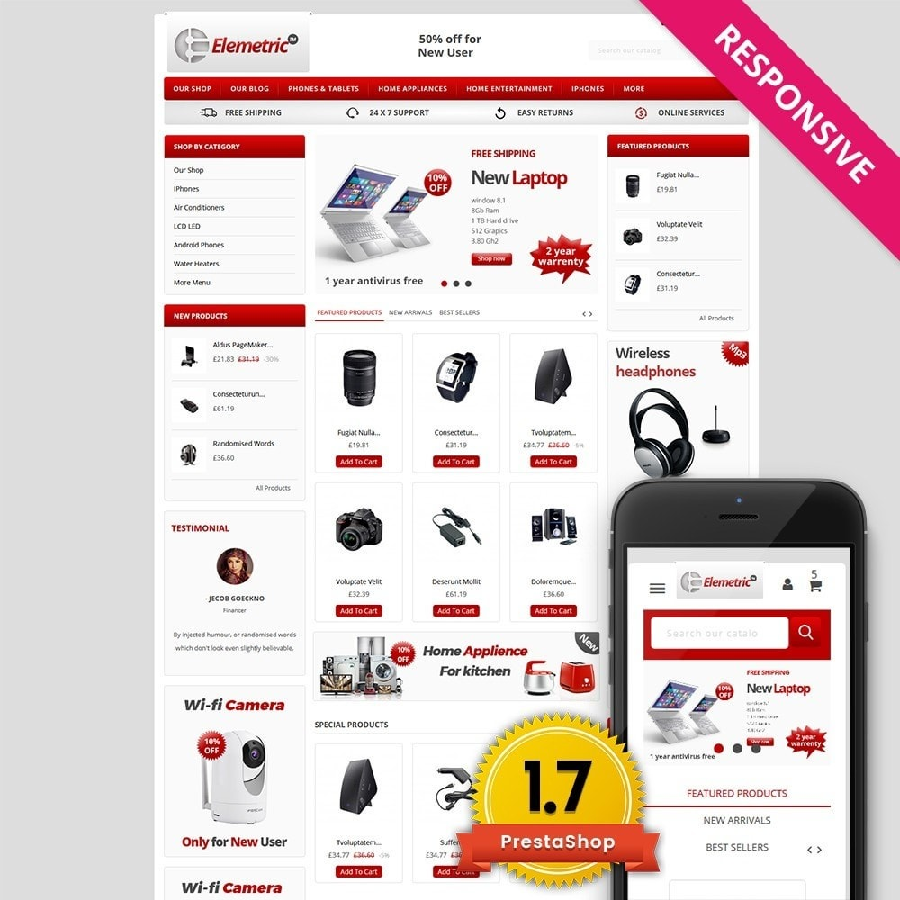 theme - Electronics & Computers - Elemetric Electronic store - 1