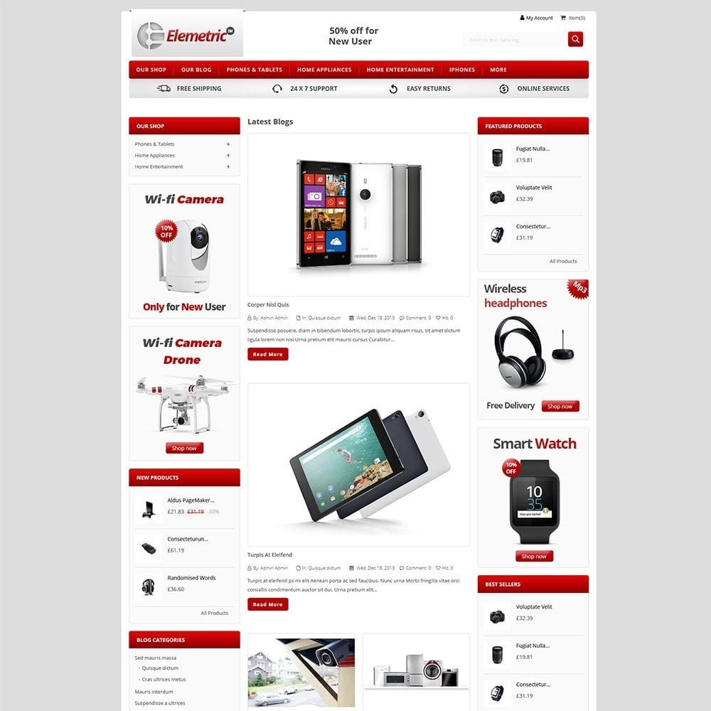 theme - Electronique & High Tech - Elemetric Electronic store - 5