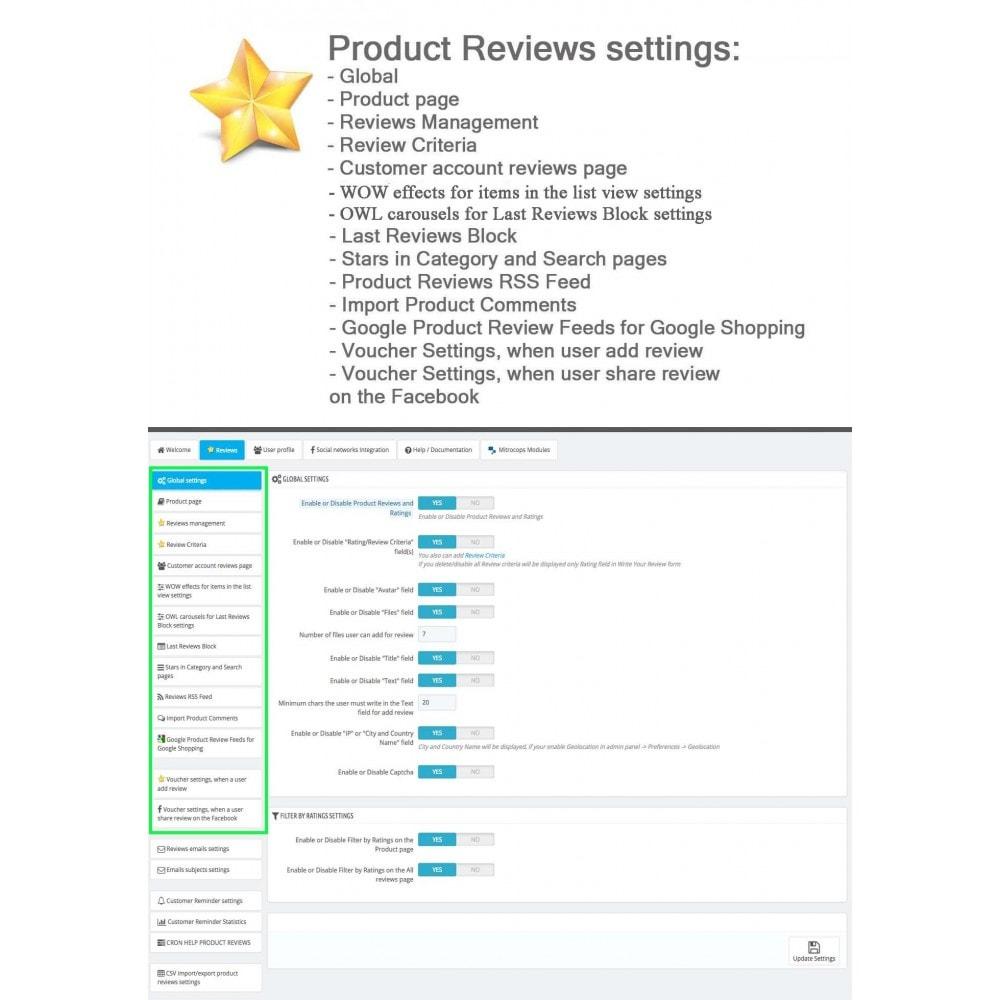 module - Recensioni clienti - Product Reviews Advanced PRO + Reminder + User Profile - 29