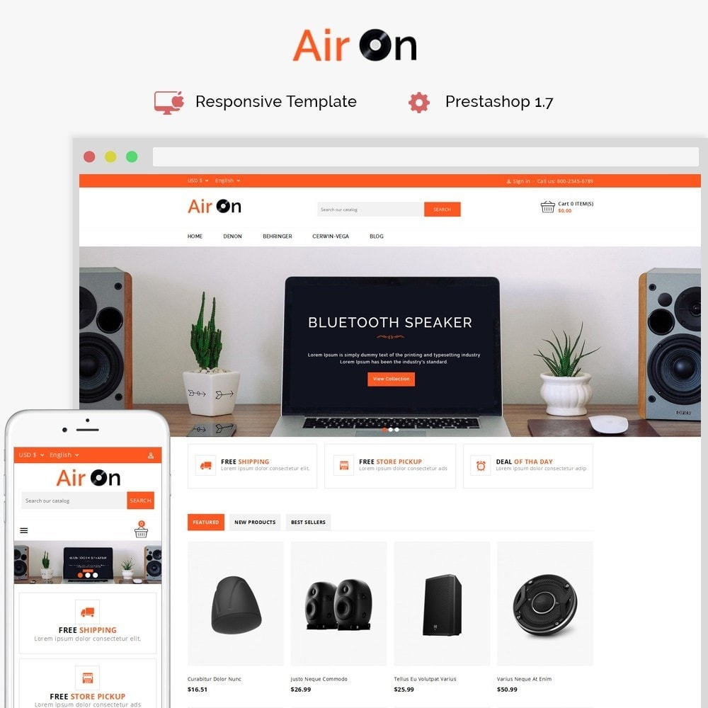 theme - Электроника и компьютеры - Airon Speakers Store - 1