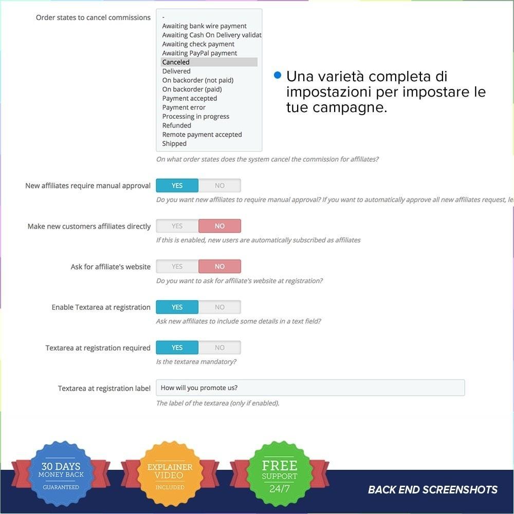 module - Indicizzazione a pagamento (SEA SEM) & Affiliazione - Full Affiliato PRO - 12