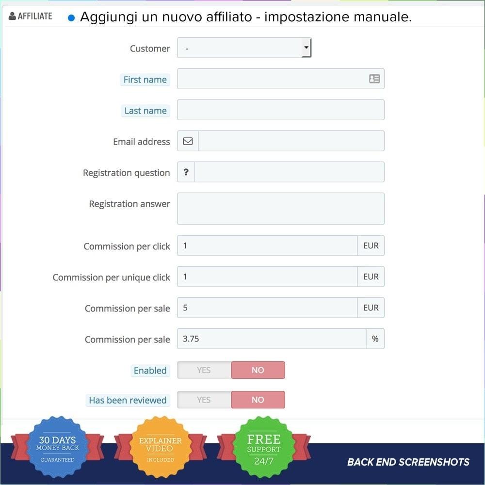 module - Indicizzazione a pagamento (SEA SEM) & Affiliazione - Full Affiliato PRO - 13