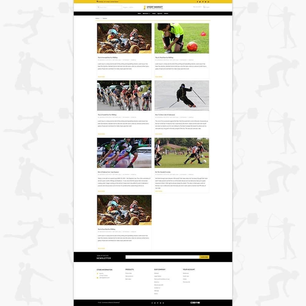theme - Спорт и Путешествия - Sport Market - 6
