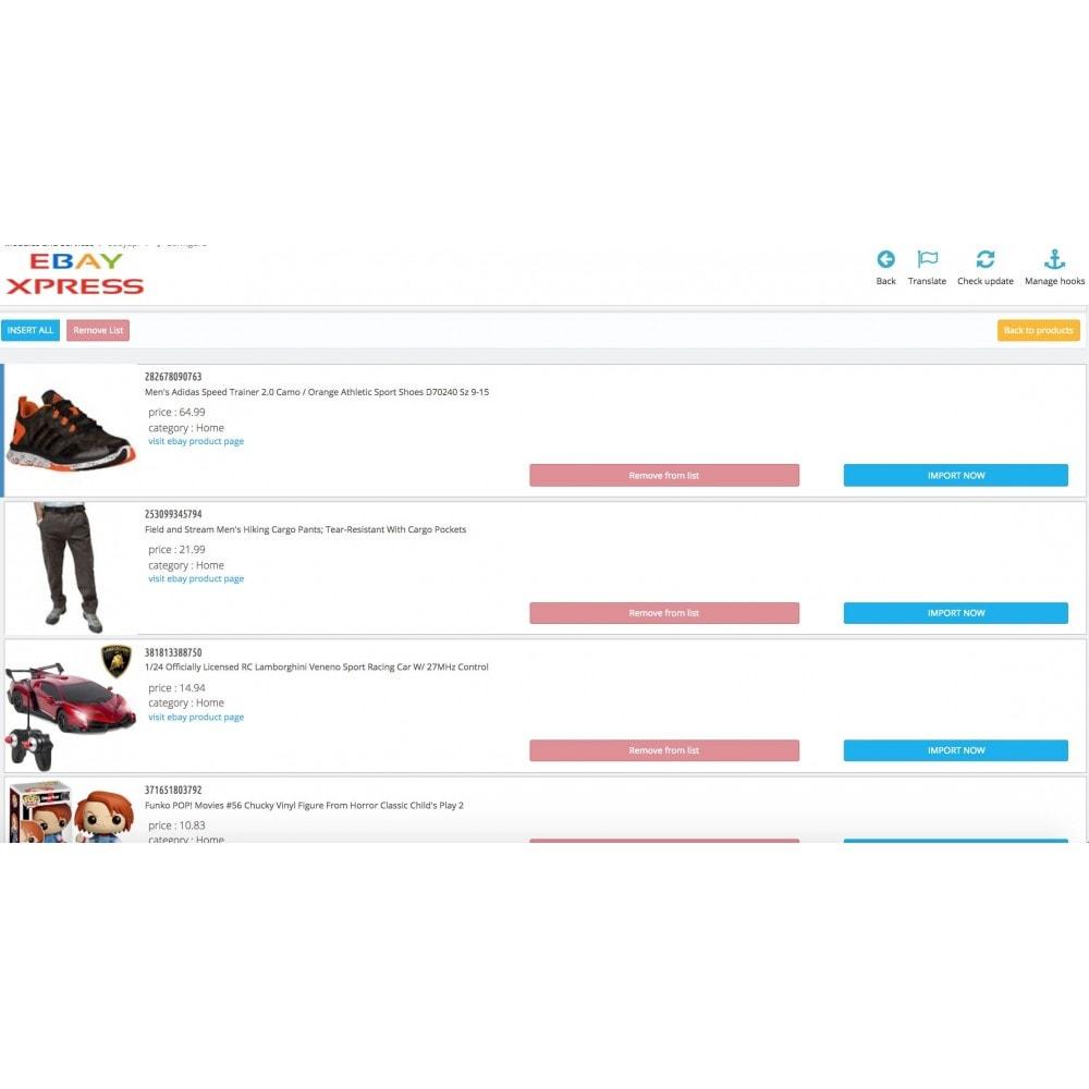 module - Importación y Exportación de datos - EbayXpress Importer - 3