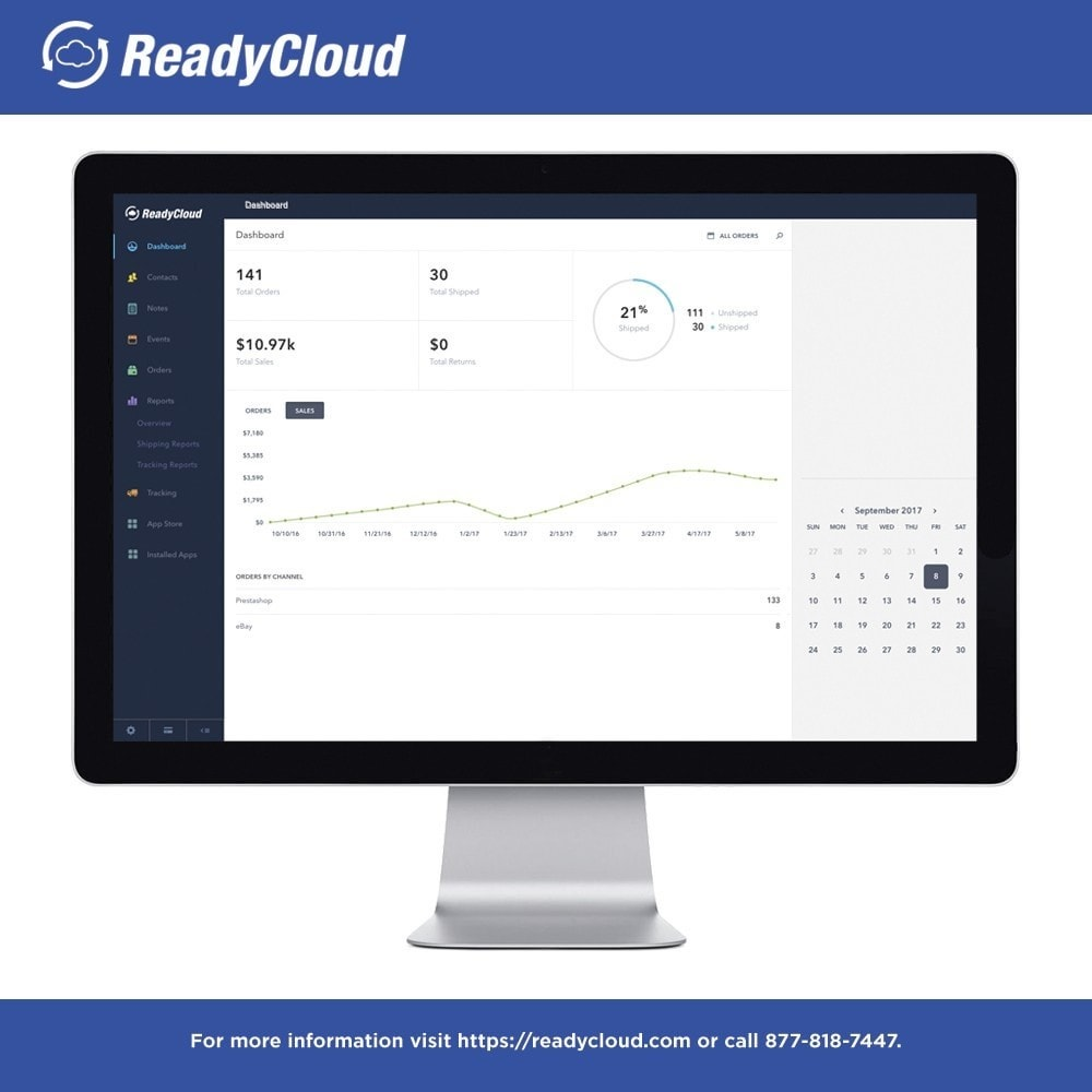 module - Third-party Data Integration (CRM, ERP...) - ReadyCloud E-Commerce CRM Software - 1