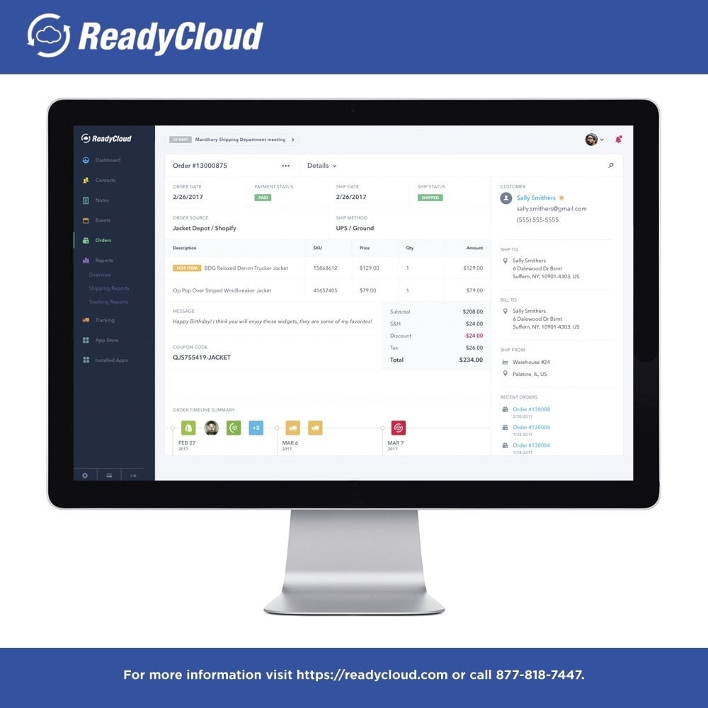 module - Third-party Data Integration (CRM, ERP...) - ReadyCloud E-Commerce CRM Software - 3