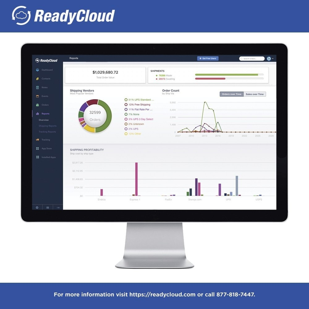 module - Third-party Data Integration (CRM, ERP...) - ReadyCloud E-Commerce CRM Software - 7
