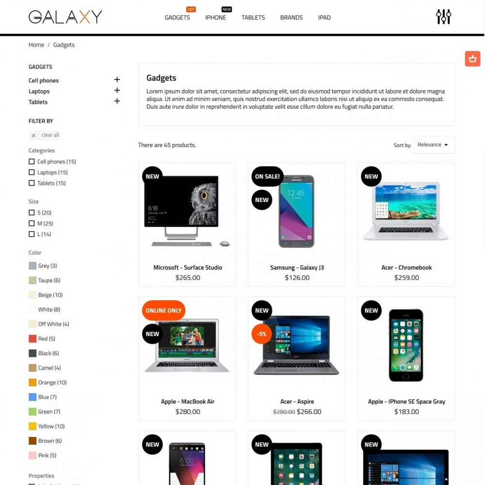 theme - Электроника и компьютеры - Galaxy - High-tech Shop - 5