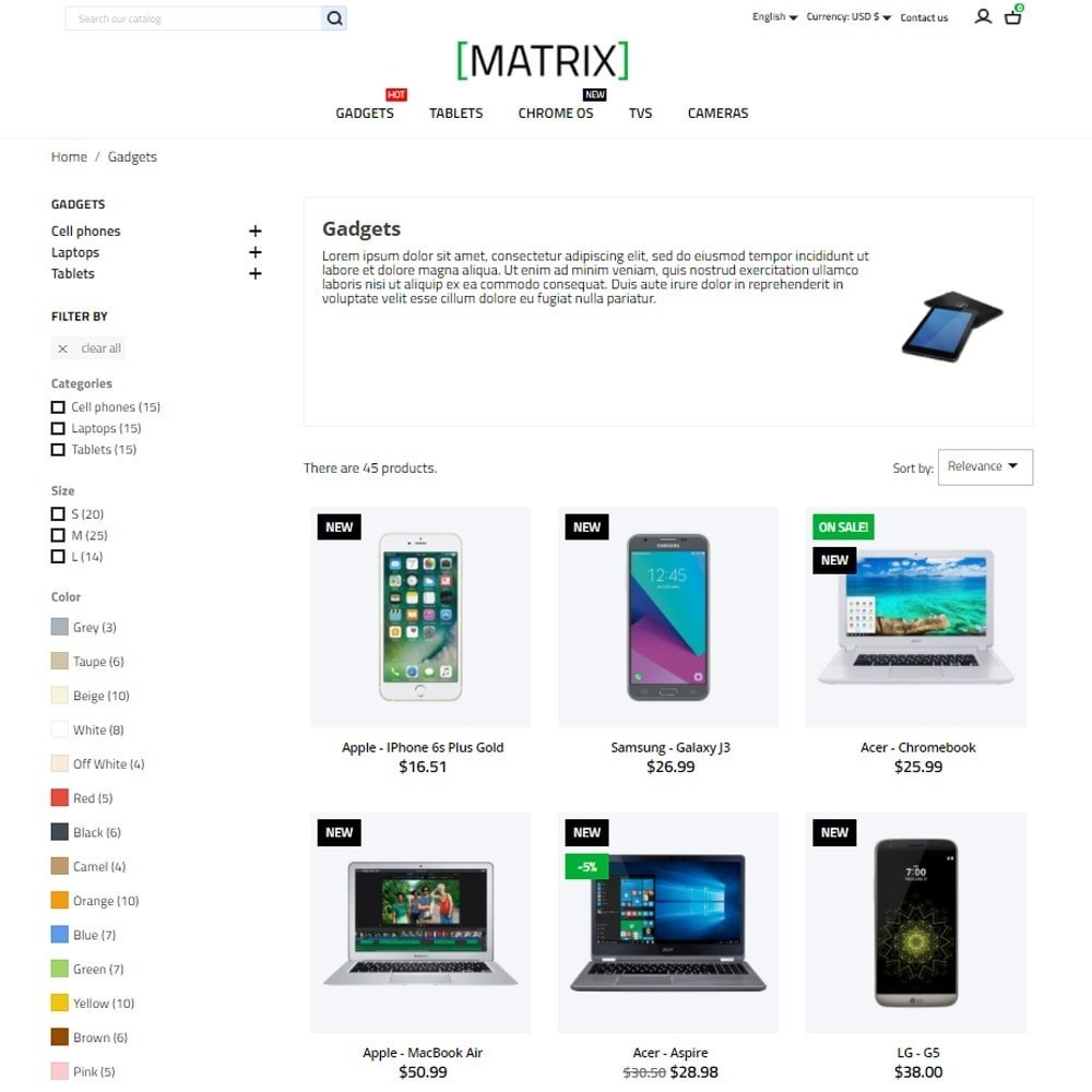 theme - Electronics & Computers - Matrix - High-tech Shop - 6