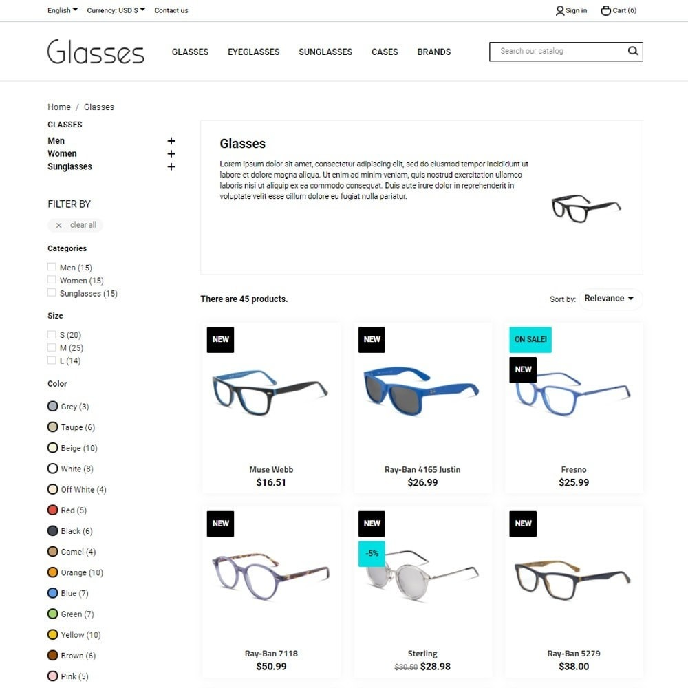 theme - Bellezza & Gioielli - Glasses - 7