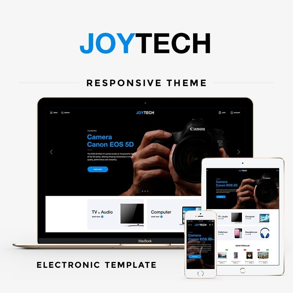 theme - Электроника и компьютеры - Joytech - High-tech Shop - 1