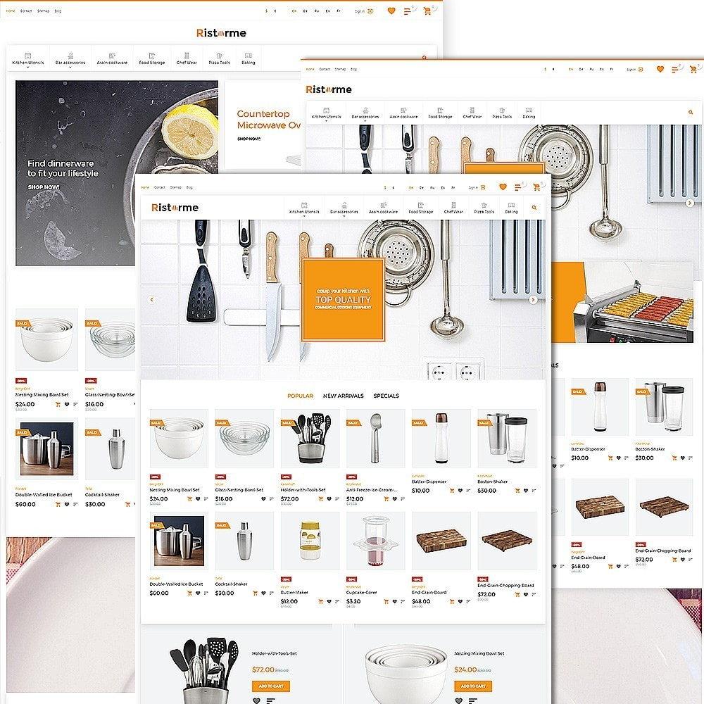 theme - Cibo & Ristorazione - Ristorme - Restaurant Equipment & Houseware - 2
