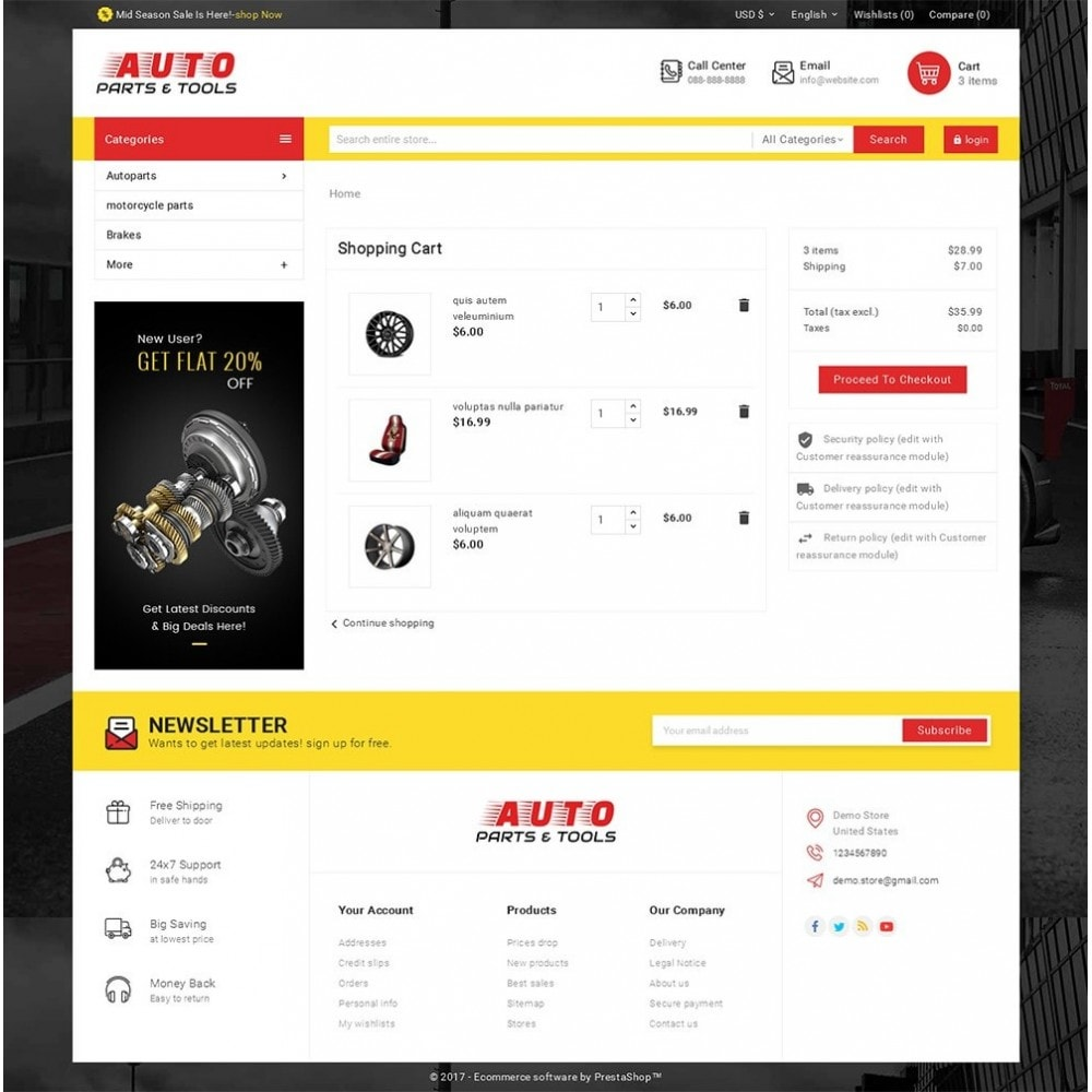 theme - Coches y Motos - Auto Parts Mega Store - 6
