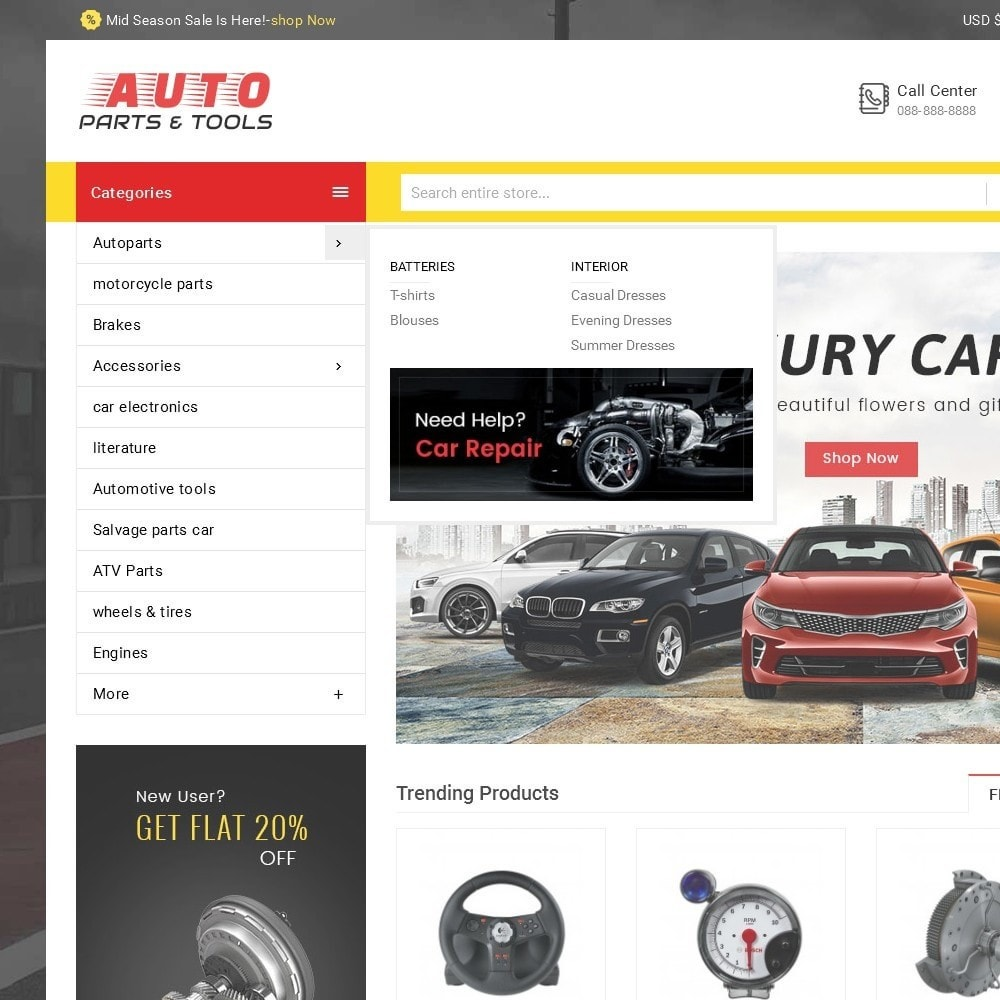 theme - Automotive & Cars - Auto Parts Mega Store - 9