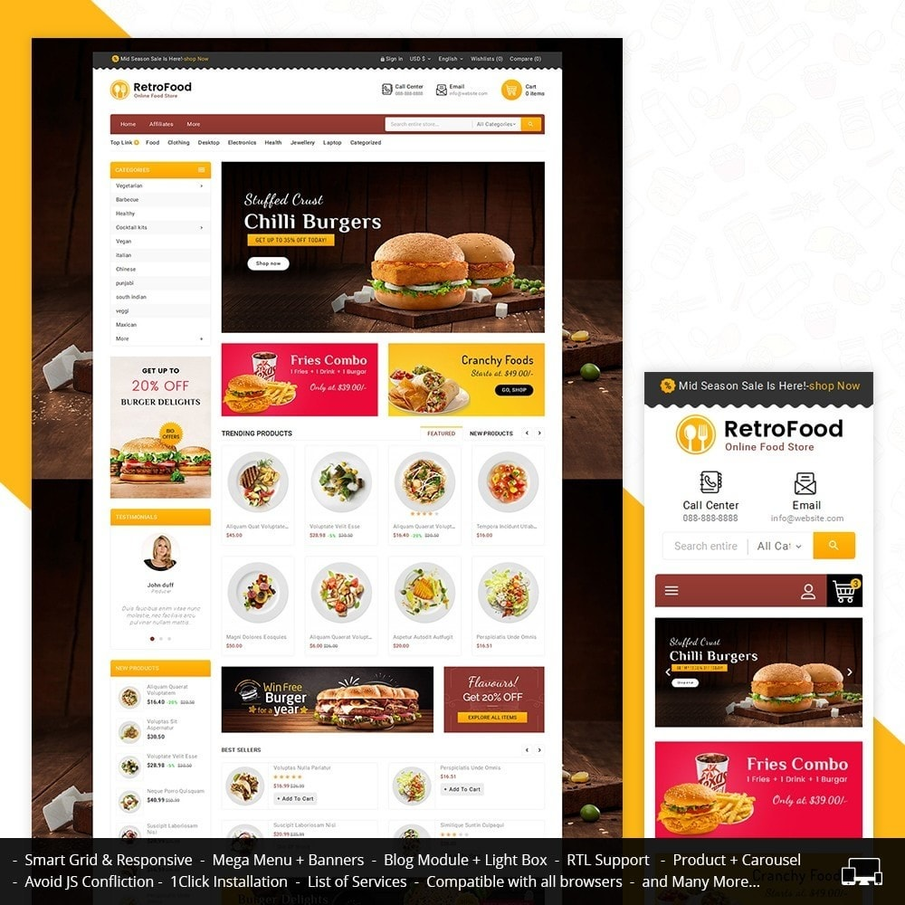 theme - Lebensmittel & Restaurants - Fast Foods Mega Store - 1