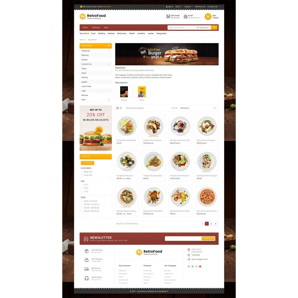 theme - Alimentos & Restaurantes - Fast Foods Mega Store - 3