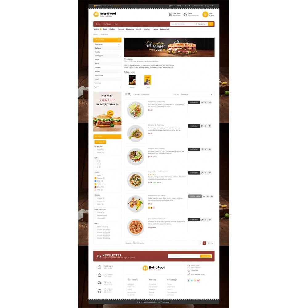 theme - Alimentos & Restaurantes - Fast Foods Mega Store - 4