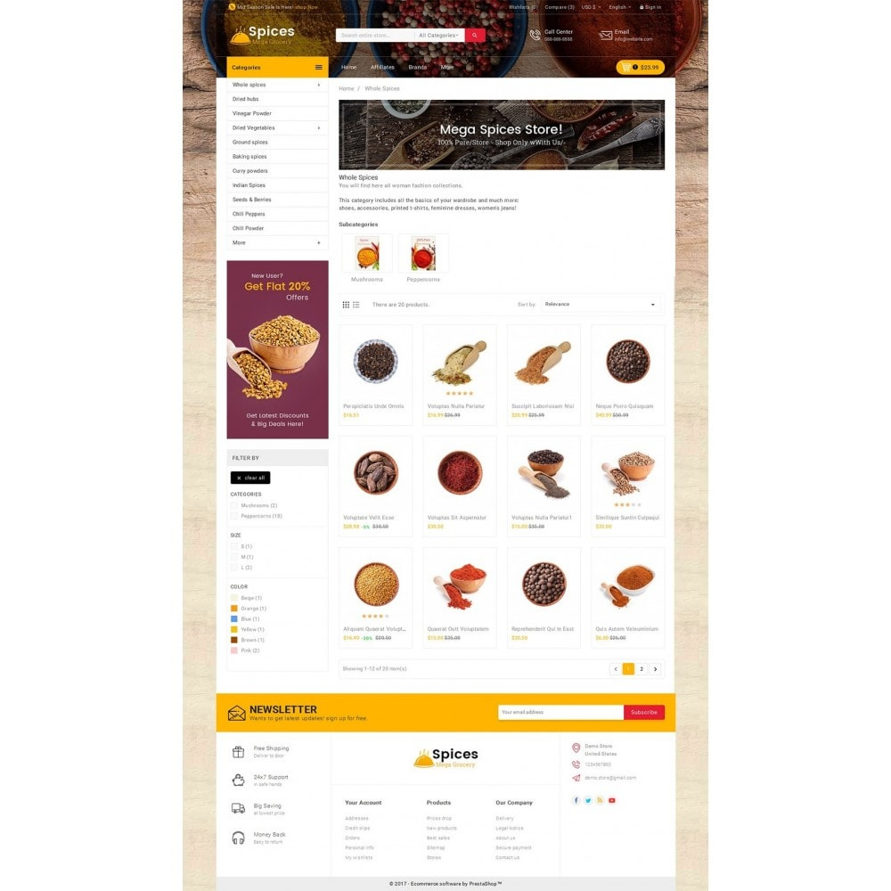 theme - Food & Restaurant - Spices Mega Store - 3