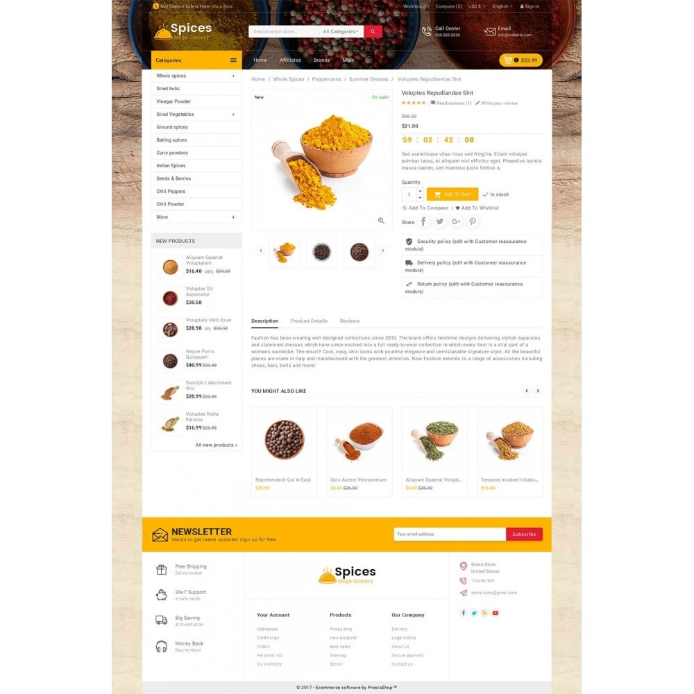 theme - Alimentos & Restaurantes - Spices Mega Store - 5