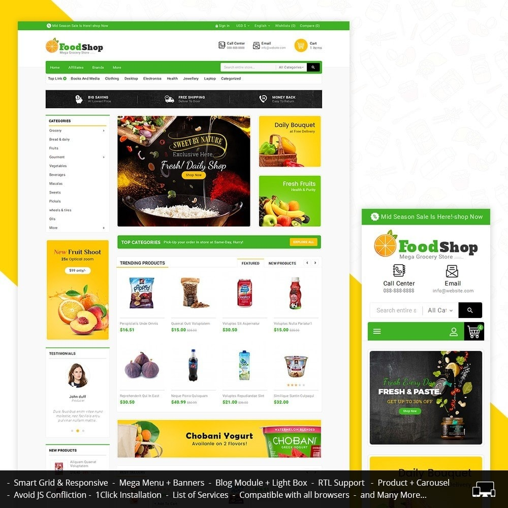 theme - Food & Restaurant - Grocery Food Mega Store - 1