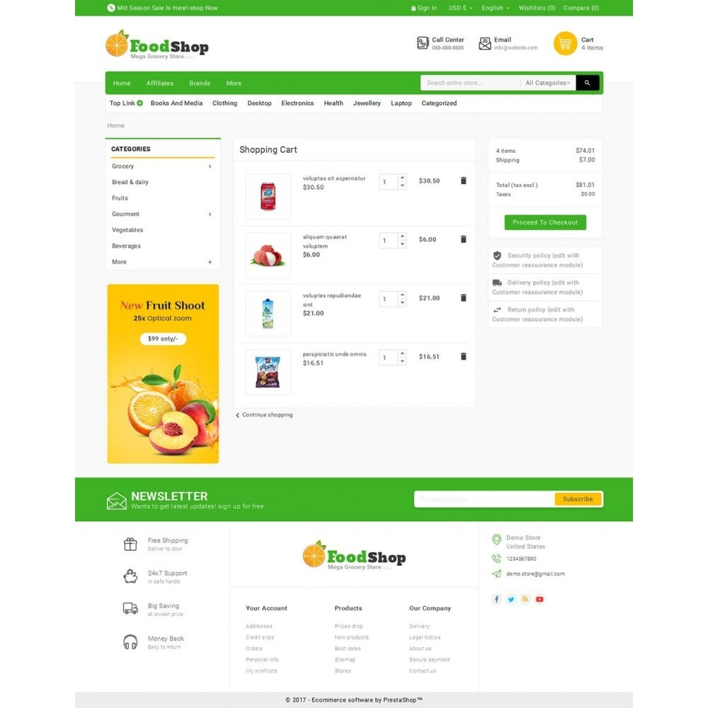 theme - Lebensmittel & Restaurants - Grocery Food Mega Store - 6