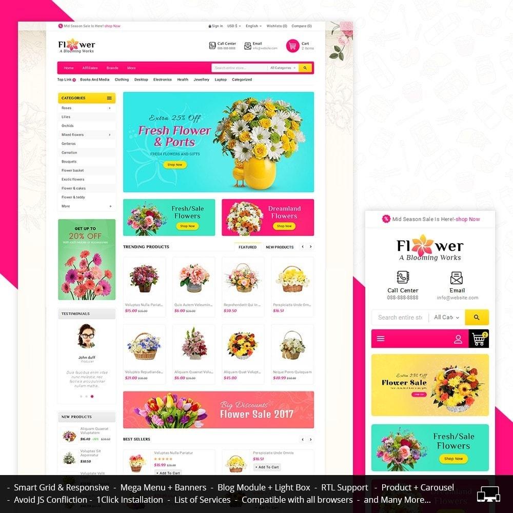 theme - Presentes, Flores & Comemorações - Blooming Flower Mega Store - 1