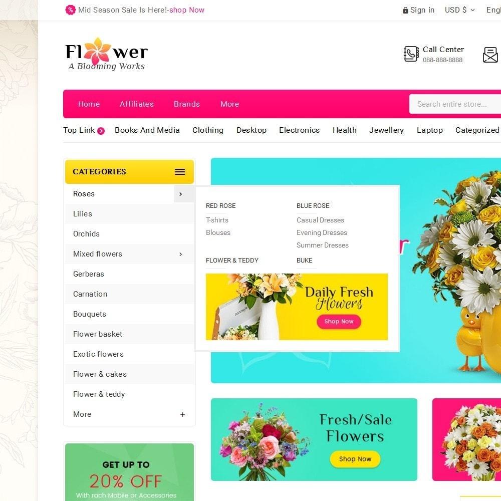 theme - Presentes, Flores & Comemorações - Blooming Flower Mega Store - 9