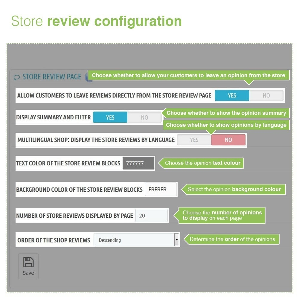 module - Opiniões de clientes - Store Reviews + Product Reviews + Google Rich Snippets - 8